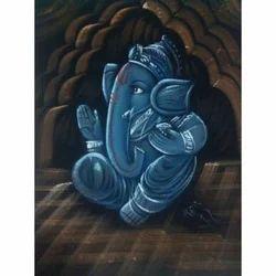 Painting Of Ganesha Sitting