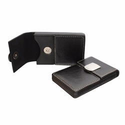 Magnetic Leather Visiting Card Holder