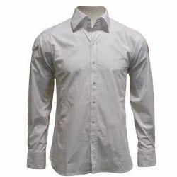 White Cotton Mens Formal Shirts