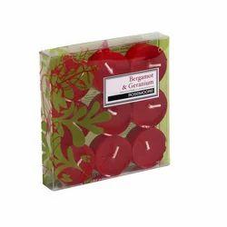 Rosemoore Scented Tea Lights Candle  Bergamot & Geranium (Pack Of 9)