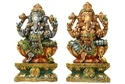 Colorful Wood Ganesha