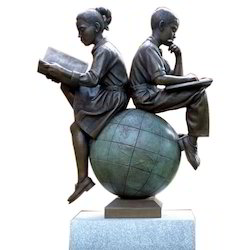 FRP Kids Reading Statue