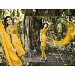 Spring Elegance Of Rveel Gold Salwar Kameez