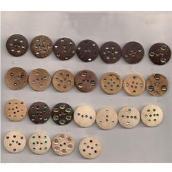 Stoned Wooden Buttons