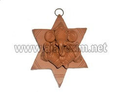Clay Hanging Star Ganesha