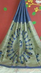 Hand Painted Silk Saree