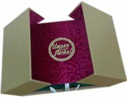 Red Cardboard Wedding Box - Designer Wedding Cards