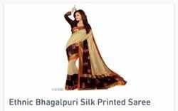 Silk Mark Printed Ethnic Banarasi Silk Saree, Hand, Embroidery: Yes