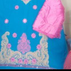 Embroidered Woolen Suits With Stole
