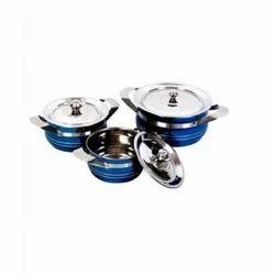 Ankur Metal Stainless Steel Color Hot Pot, Material Grade: 202