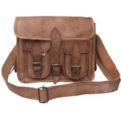 Genuine Leather Camera Messenger Bag CAM105