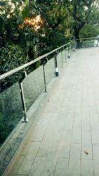 Bar Steel Glass Railing
