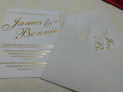Multicolor Foil Stamped Custom Made Wedding Invitation Cards Id