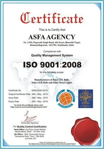 Asfa Agency - Manufacturer from India | About Us