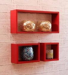 Blackberry Overseas Red Wall Mounted Shelves