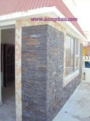 Front Entrance Stone Cladding