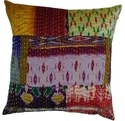 Patola Patch Silk Kantha Cushion Covers