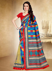 Casual Silk Saree, Machine Made, 6 m (with blouse piece)
