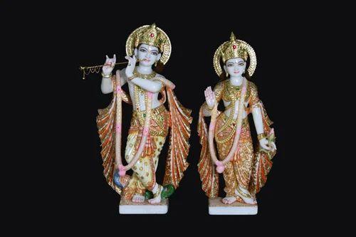 Tejasvi Marble Radha Krishna Statues