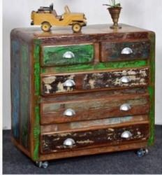 Recycled Wood Drawer Chest - Recycled Wood Furniture