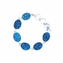 Oval Shape Druzy Bracelet