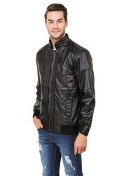 Mens Soft Leather Full Sleeve Jacket, Size: L, XL & XXL