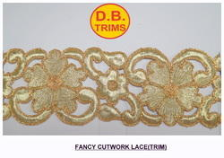 Golden Cutwork Lace
