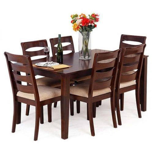 Wooden Dining Table Set: Rubber Wooden Dining Table At Rs 48000 /set
