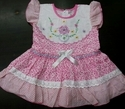 Short Sleeve Cotton Baby Frock