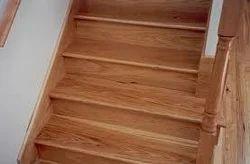 Brown Speedy Dustless Wood Tile Stairs Flooring, For Indoor, Thickness: Standard