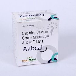 Aabcal Calcitrol Calcium Citrate Magnesium and Zinc Tablets, Packaging Type: Blister
