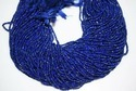 Natural Lapis Faceted Rondelle Beads Strand