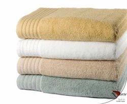 White Plain Micro Cotton Towels, Rectangular, 250-350 GSM