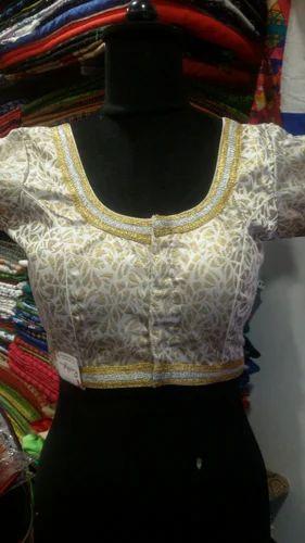 3e8e1c6d386 Golden Silver Brocade Blouse With Lece - Rutba Fashion