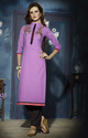 Cotton Designer Purple Kurti