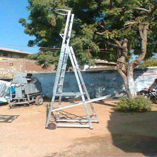 Aluminum Wheel Supporting Pipe Step Ladder