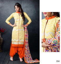 Cotton Embroidered Unstitched Salwar Suit