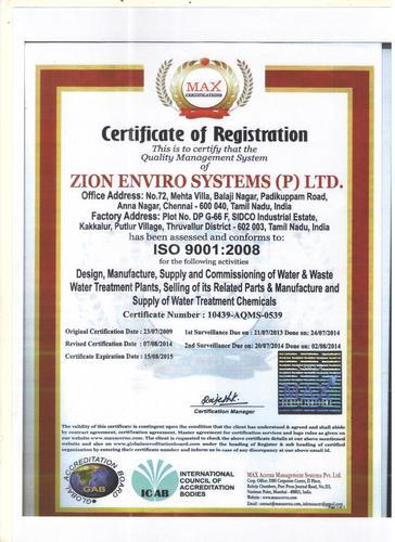 Zion Enviro Systems Private Limited - Manufacturer from Anna Nagar ...