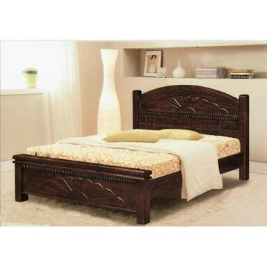 Modern Wooden Natural Colour Bed