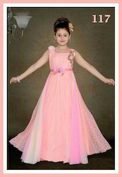 Beautiful Layered Girls Embroidery Gown