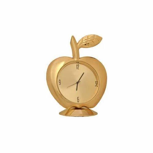 Apple Gold Table Clock