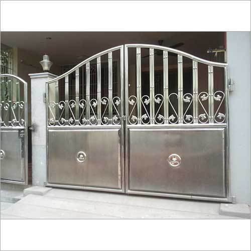 Latest Cheap Indian House Wrought Iron Steel Main Gate: Fancy Steel Gate Manufacturer From Barabanki