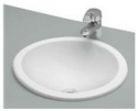 Cera Circle Counter Wash Basin Snow White