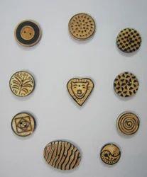 Burnt Horn Buttons