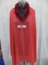 Woolen Fur Neck Poncho