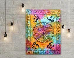 Mukti Tie Dye Om Symbol Poster