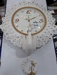 White Antic Wall Clock