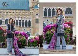 Cotton Pakistani Unstitched Lawn Dress Material, Machine wash