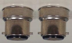 Aluminum Bulb Cap B-22 Nikil Plated