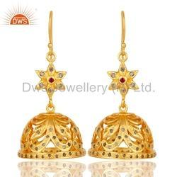 Natural Pave Diamond Traditional Earrings Jewelry